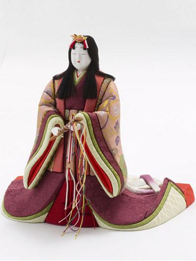 木目込み人形・木目込み親王立雛紫野平台飾り No8700