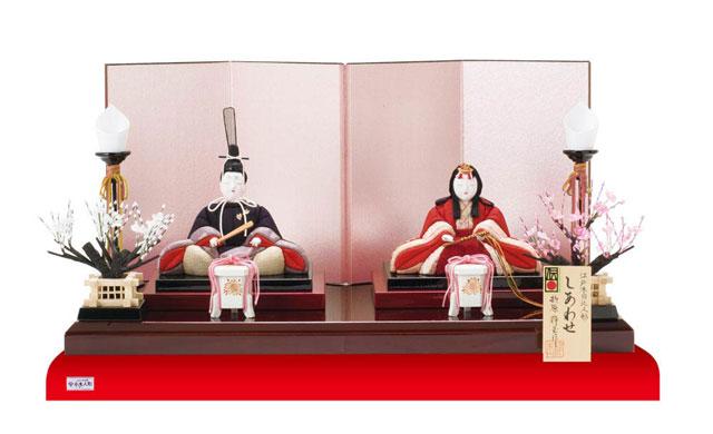 木目込み人形 しあわせ金彩雛セット No8709