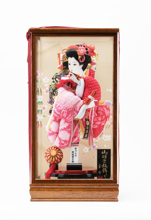 女児の初正月飾り 標準一般サイズの有松絞りの羽子板飾り