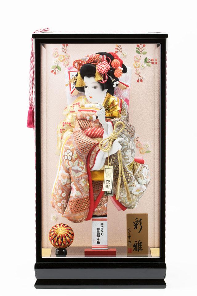女児の初正月飾り 汕頭刺繍の羽子板