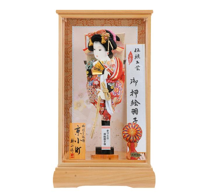 女児の初正月飾 羽子板飾り 普及型羽子板