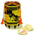 日本の文様 貝桶