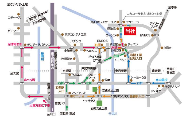 小木人形への地図