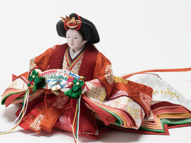 親王飾り・京小十番塗桐平台親王飾りNo1004A 女雛