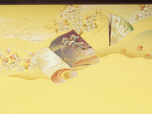 金彩の雛屏風