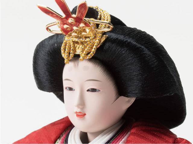 京小十番焼桐平台親王飾りNo1009B 秀 女雛のお顔