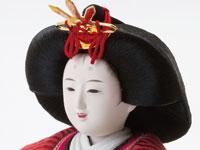 雛人形 京十番焼桐平台親王飾り No1012 女雛の顔