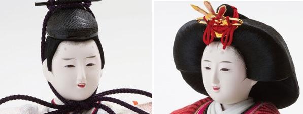 雛人形・京十番焼桐平台親王飾り No1012 男雛のお顔 女雛のお顔