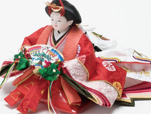 親王飾り・京小十二番焼桐平台親王飾りNo1202B 女雛