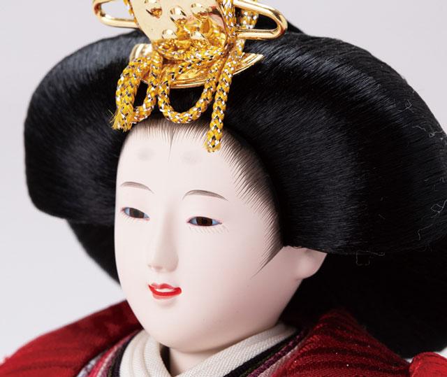 京十二番ミニ焼桐平台親王飾り No1303 女雛のお顔