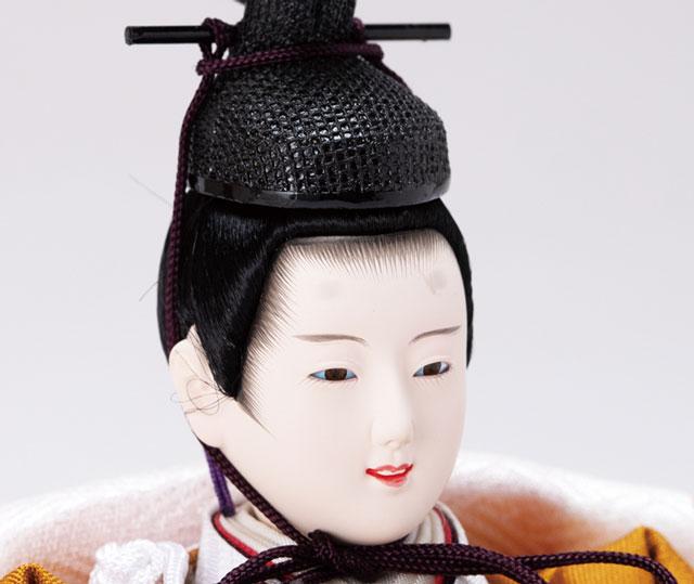 京十二番ミニ焼桐平台親王飾り No1303 男雛のお顔