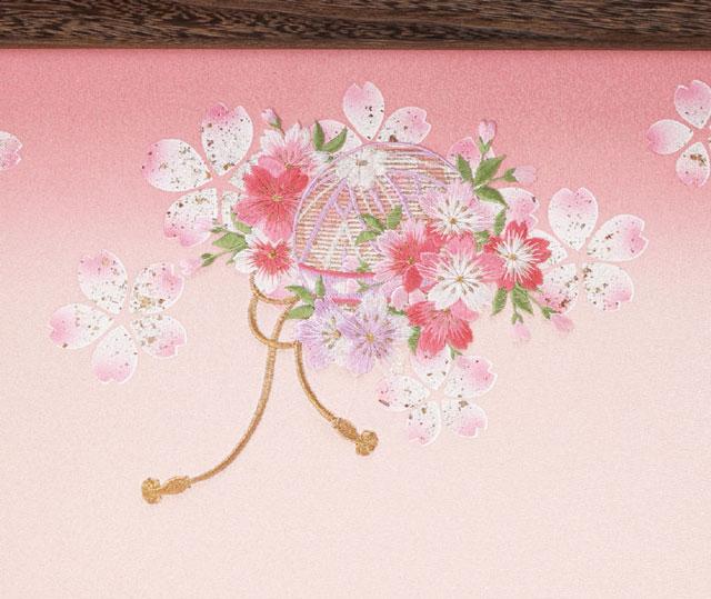 京小十番親王柳官女付焼桐三段飾りセット No3000C ひな屏風