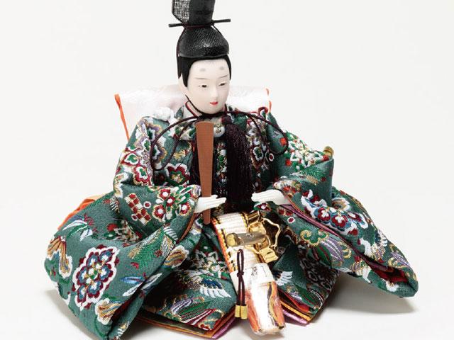 京小十番親王柳官女付塗桐三段飾りセットNo3001B 男雛