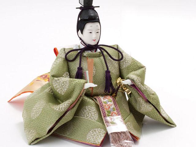 京十番親王芥子官女・五人囃子付焼桐三段飾りセット No3010B 男雛