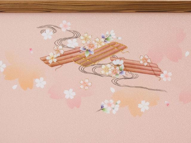 雛人形・京九番親王五寸官女付焼杉三段飾りセット No3021官女