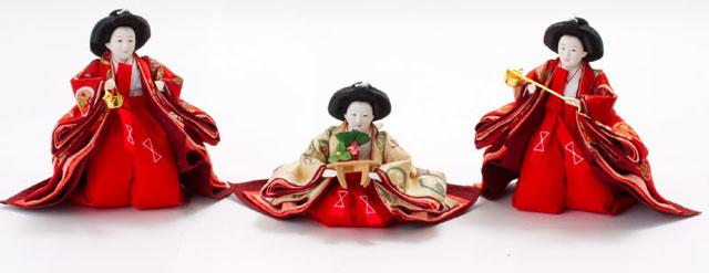 雛人形・五段飾り 京十番親王芥子十三人揃No5011 三人官女