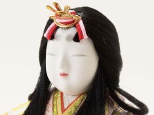 木目込み人形 親王飾り芳春雛 No8705 女雛のお顔