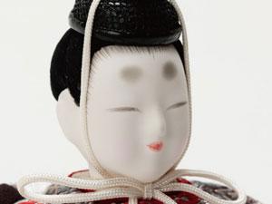 木目込み人形 しあわせ金彩有職雛セット No8709B 男雛のお顔
