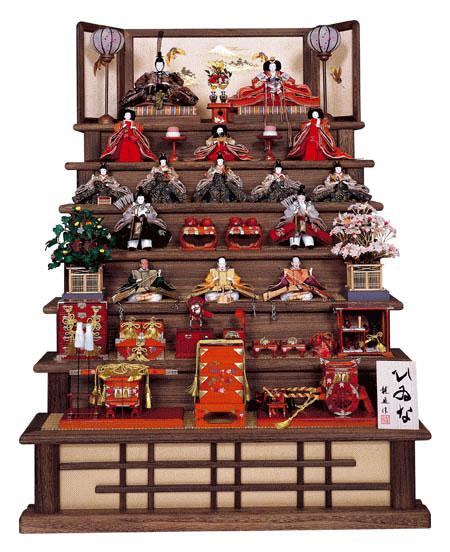 焼桐七段飾りの雛人形