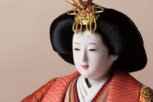 京十番焼桐平台親王飾りNo1014C 女雛のお顔