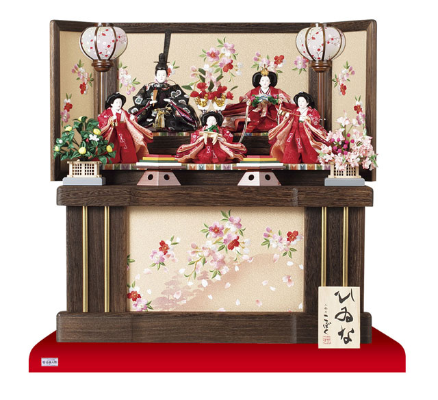 雛人形・京小十番親王柳官女付焼桐収納飾りNo1019セット