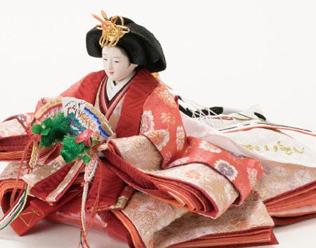 京小十番親王柳官女付焼桐収納飾りNo1019セット 女雛