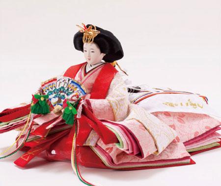 京小十番親王柳官女付焼桐収納飾りNo1022セット