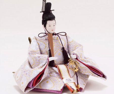 京小十番親王柳官女付焼桐収納飾りNo1022セット 男雛