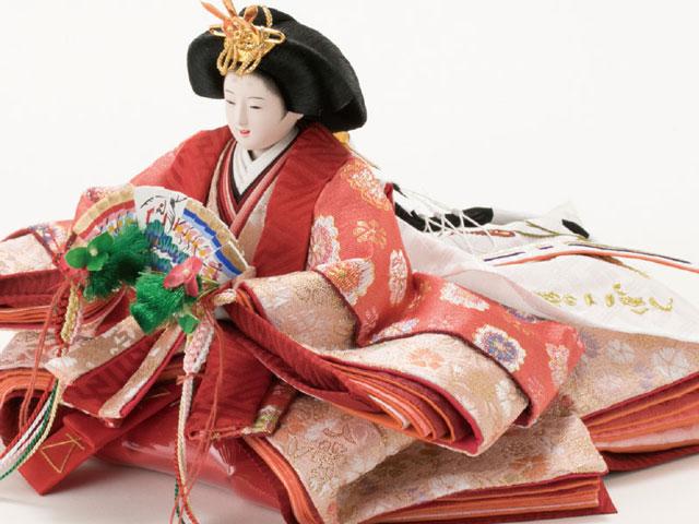 京小十番親王柳官女付焼桐収納飾りNo1019 女雛