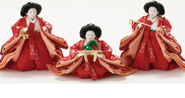京小十番親王柳官女付焼桐収納飾りNo1019 官女