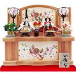 京小十番親王塗り桐収納飾りNo1021Cセット
