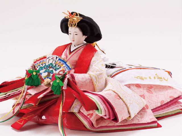 京小十番親王白木桐収納飾りNo1022セット 女雛