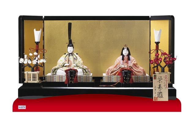 木目込人形 真多呂作 親王平台飾り 栄寿雛 No993029
