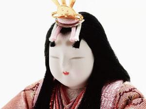 木目込人形 真多呂作 親王・官女五人飾り早春雛 No2913 女雛のお顔