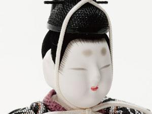 木目込人形 真多呂作 親王・官女五人飾り早春雛 No2913 男雛のお顔