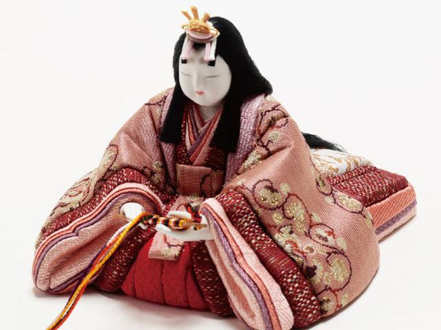 木目込人形 真多呂作 親王・官女五人飾り早春雛 No2913 女雛
