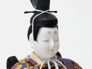 木目込人形 真多呂作 親王平台飾り 京極紫雛 No993012 男雛のお顔