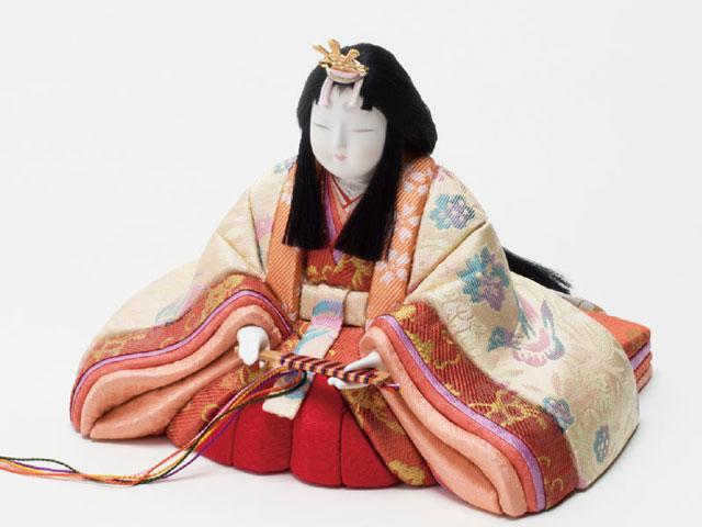 木目込人形 真多呂作 親王平台飾り 京極紫雛 No993012 女雛