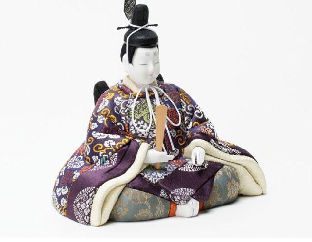 木目込人形 真多呂作 親王平台飾り 京極紫雛 No993012 男雛