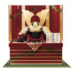 春日大社所蔵 国宝模写 『竹に虎雀』金物赤糸威収納台兜飾り No310-A