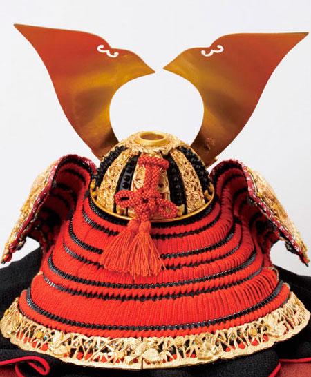 五月人形・奈良 春日大社所蔵 国宝模写 『竹に虎雀』金物赤糸威 兜飾り No311A