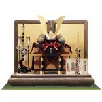 五月人形・青森 櫛引八幡宮所蔵 国宝模写 褄取白糸威 兜飾り No311-C