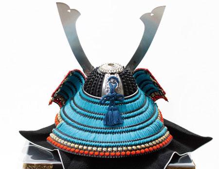 五月人形 広島 厳島神社所蔵  国宝模写浅葱綾威兜飾りNo311-E
