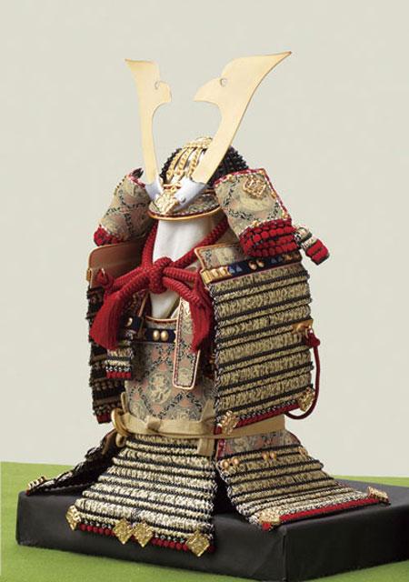 菅田天神社所蔵  国宝模写 小桜黄返韋威鎧飾り No321-D