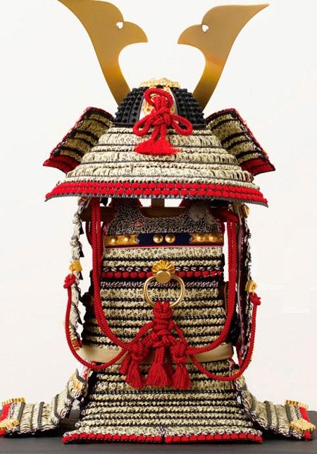五月人形・菅田天神社所蔵  国宝模写 小桜黄返韋威鎧飾り No321-D