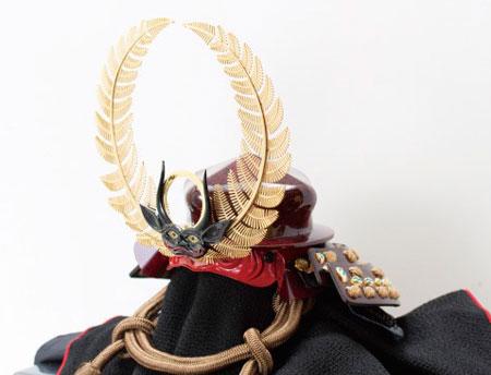 五月人形・久能山東照宮蔵 徳川家康の歯朶(しだ)具足模写兜飾り No4151