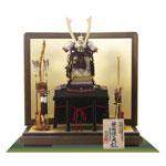 五月人形・重要文化財模写 御岳神社所蔵 紫裾濃威大鎧模写 鎧飾りNo321-G