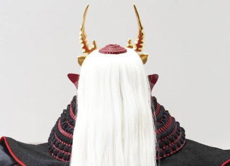 五月人形 戦国武将 武田信玄公創作兜(歯噛前立)陣幕飾りNo4193 兜の背面