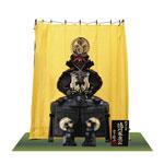 五月人形・徳川家康公 創作鎧竹千代 陣幕飾りNo4252B