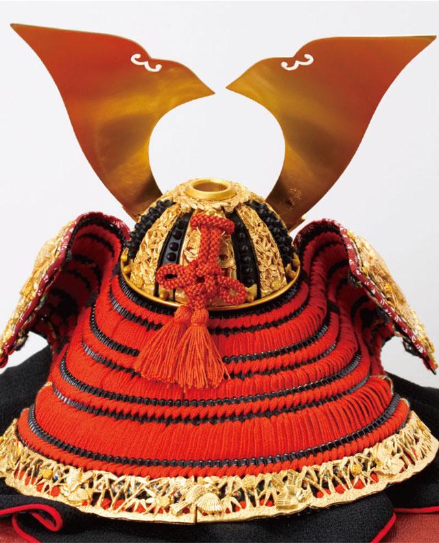 奈良 春日大社所蔵 国宝模写 『竹に虎雀』金物赤糸威 兜飾り No311-A 兜後
